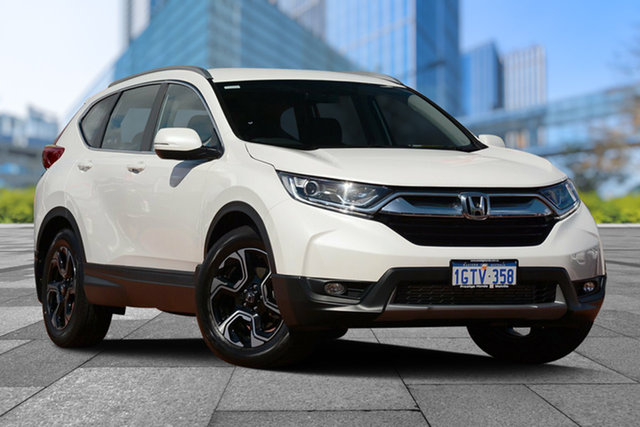 Used Honda CR-V RW MY19 VTi-E FWD, 2019 Honda CR-V RW MY19 VTi-E FWD White Orchid 1 Speed Constant Variable Wagon