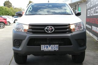 2019 Toyota Hilux GUN135R Workmate Double Cab 4x2 Hi-Rider Glacier White 6 Speed Sports Automatic