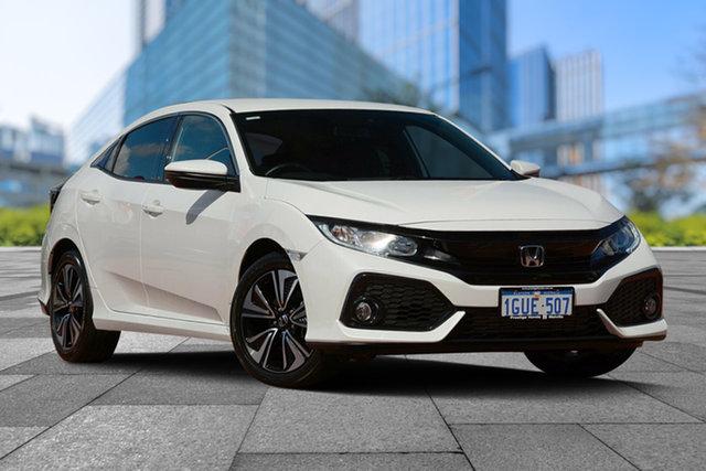 Used Honda Civic 10th Gen MY19 VTi-L, 2019 Honda Civic 10th Gen MY19 VTi-L Platinum White 1 Speed Constant Variable Hatchback