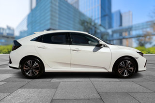 2018 Honda Civic 10th Gen MY18 VTi-L White Orchid 1 Speed Constant Variable Hatchback