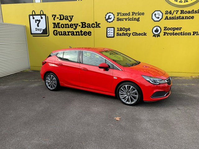 Used Holden Astra BK MY19 RS-V, 2018 Holden Astra BK MY19 RS-V Absolute Red 6 Speed Sports Automatic Hatchback
