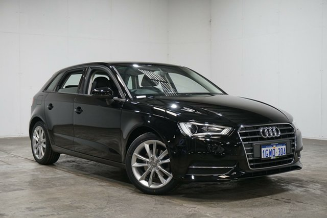 Used Audi A3 8P MY13 Attraction Sportback S Tronic, 2013 Audi A3 8P MY13 Attraction Sportback S Tronic Black 7 Speed Sports Automatic Dual Clutch
