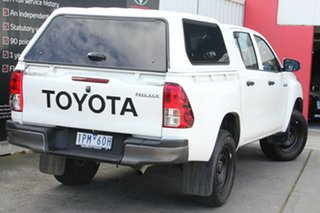 2019 Toyota Hilux GUN135R Workmate Double Cab 4x2 Hi-Rider Glacier White 6 Speed Sports Automatic.