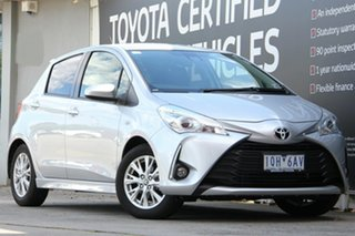2017 Toyota Yaris NCP131R ZR Silver Pearl 4 Speed Automatic Hatchback.