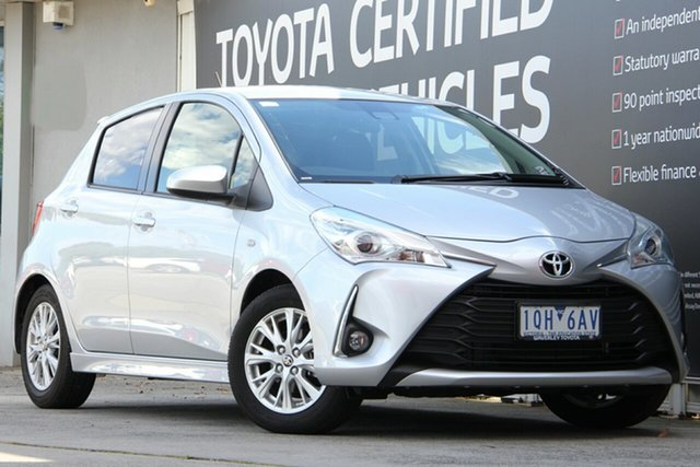 Used Toyota Yaris NCP131R ZR, 2017 Toyota Yaris NCP131R ZR Silver Pearl 4 Speed Automatic Hatchback