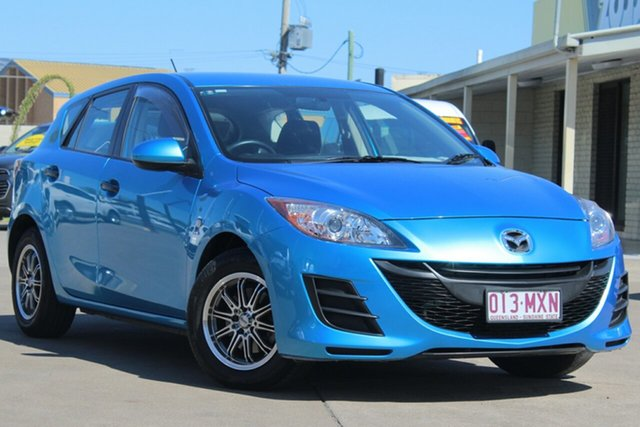 Used Mazda 3 BL10F1 Neo, 2010 Mazda 3 BL10F1 Neo Celestial Blue 6 Speed Manual Hatchback