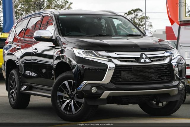 Demo Mitsubishi Pajero Sport QE MY19 Exceed, 2019 Mitsubishi Pajero Sport QE MY19 Exceed Pitch Black 8 Speed Sports Automatic Wagon