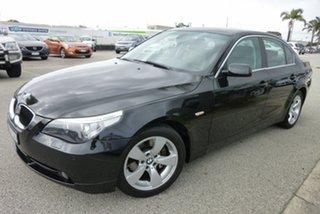 2005 BMW 5 Series E60 530i Steptronic Black 6 Speed Sports Automatic Sedan.