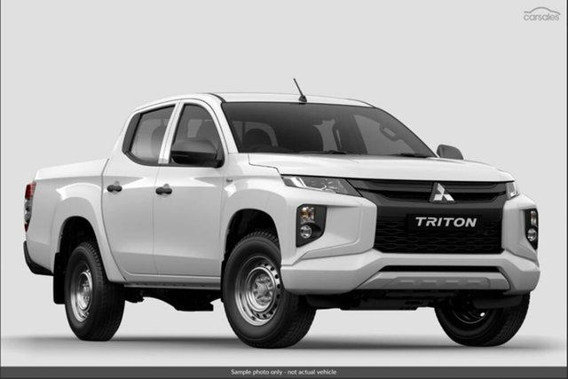 Demo Mitsubishi Triton MR MY19 GLX Double Cab ADAS, 2018 Mitsubishi Triton MR MY19 GLX Double Cab ADAS White 6 Speed Sports Automatic Utility