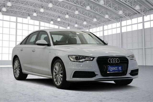 Used Audi A6 4G MY15 S Line S Tronic Quattro, 2014 Audi A6 4G MY15 S Line S Tronic Quattro White 7 Speed Sports Automatic Dual Clutch Sedan