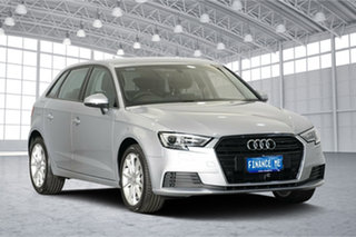 2016 Audi A3 8V MY17 Sportback S Tronic Silver 7 Speed Sports Automatic Dual Clutch Hatchback.
