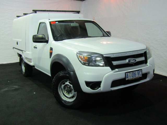 Used Ford Ranger PK XL, 2009 Ford Ranger PK XL White 5 Speed Automatic Cab Chassis