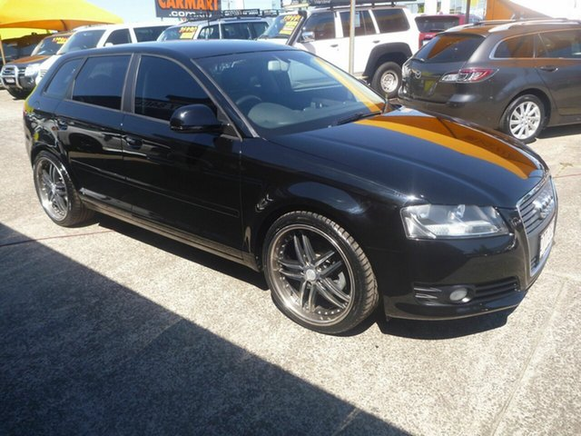 Used Audi A3 8P MY10 TFSI Sportback S Tronic Ambition, 2010 Audi A3 8P MY10 TFSI Sportback S Tronic Ambition Black 7 Speed Sports Automatic Dual Clutch