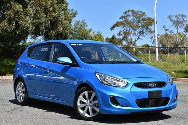 Used Hyundai Accent RB5 MY17 Sport, 2017 Hyundai Accent RB5 MY17 Sport Metallic Blue 6 Speed Sports Automatic Hatchback