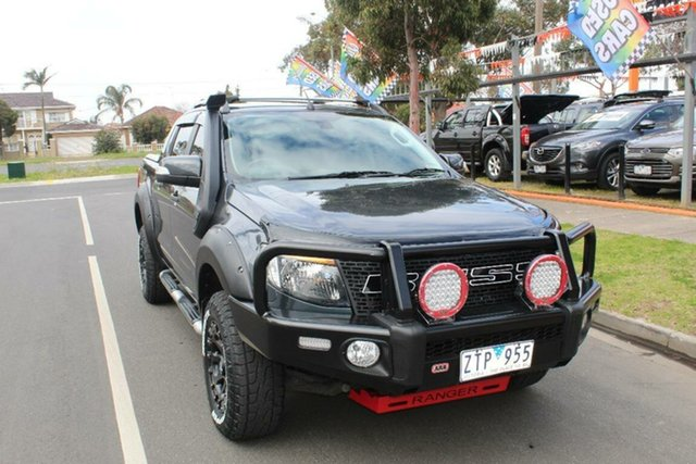 Used Ford Ranger PX Wildtrak 3.2 (4x4), 2013 Ford Ranger PX Wildtrak 3.2 (4x4) Grey 6 Speed Manual Crew Cab Utility