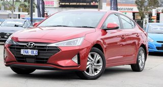 2018 Hyundai Elantra AD.2 MY19 Active Fiery Red 6 Speed Sports Automatic Sedan.