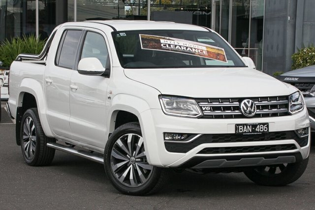 Demo Volkswagen Amarok 2H MY19 TDI580 4MOTION Perm Ultimate, 2019 Volkswagen Amarok 2H MY19 TDI580 4MOTION Perm Ultimate Candy White 8 Speed Automatic Utility