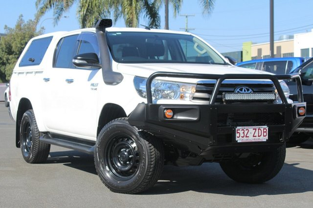 Used Toyota Hilux GUN126R SR Double Cab, 2015 Toyota Hilux GUN126R SR Double Cab White 6 Speed Manual Utility