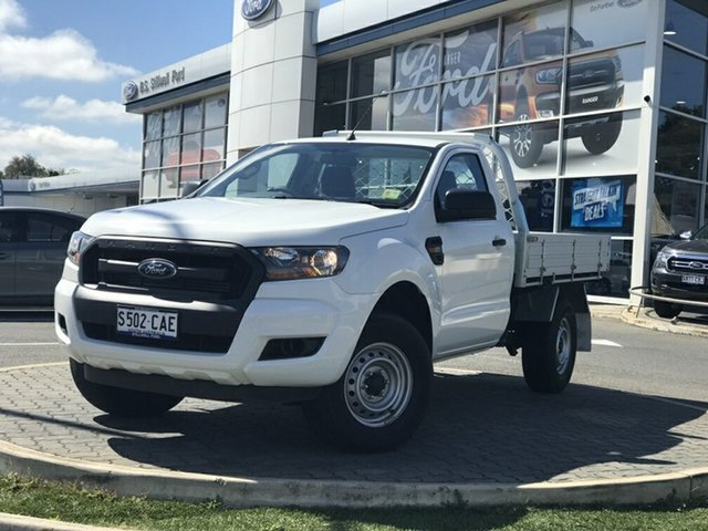 Demo Ford Ranger PX MkII 2018.00MY XL, 2018 Ford Ranger PX MkII 2018.00MY XL Cool White 6 Speed Manual Cab Chassis
