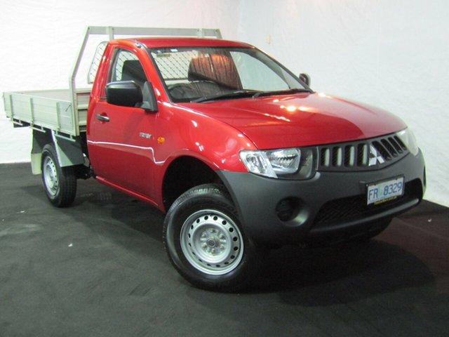Used Mitsubishi Triton ML MY07 GL 4x2, 2007 Mitsubishi Triton ML MY07 GL 4x2 Red 5 Speed Manual Cab Chassis