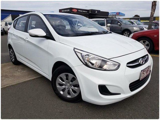 Used Hyundai Accent RB3 Active, 2016 Hyundai Accent RB3 Active White Constant Variable Hatchback
