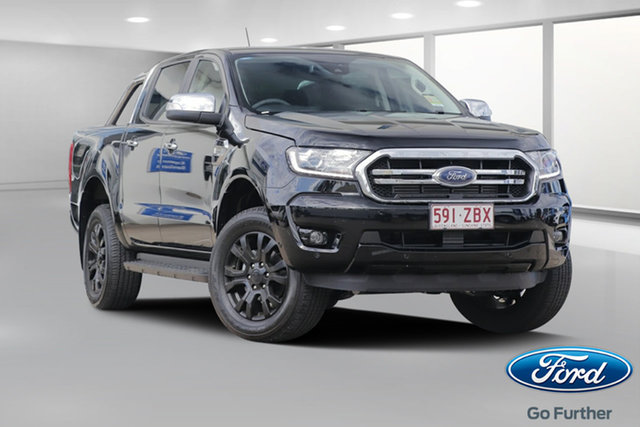 Demo Ford Ranger PX MkIII 2019.75MY XLT Pick-up Double Cab, 2019 Ford Ranger PX MkIII 2019.75MY XLT Pick-up Double Cab Shadow Black 10 Speed Sports Automatic