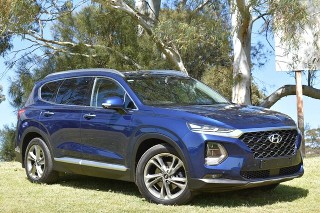 Used Hyundai Santa Fe DM5 MY18 Highlander, 2018 Hyundai Santa Fe DM5 MY18 Highlander Blue 6 Speed Sports Automatic Wagon