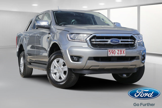Demo Ford Ranger PX MkIII 2019.75MY XLT Pick-up Double Cab, 2019 Ford Ranger PX MkIII 2019.75MY XLT Pick-up Double Cab Aluminium 6 Speed Sports Automatic