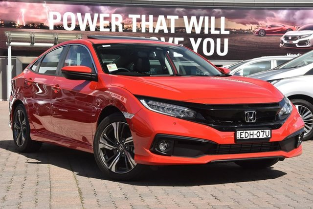 Demo Honda Civic 10th Gen MY19 VTi-LX, 2019 Honda Civic 10th Gen MY19 VTi-LX Red 1 Speed Constant Variable Sedan