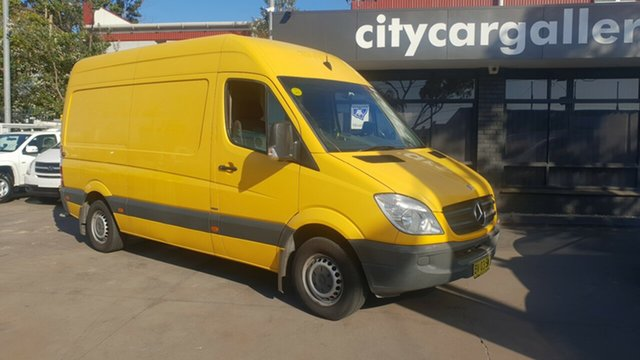 Used Mercedes-Benz Sprinter 906 MY13 313 CDI MWB, 2013 Mercedes-Benz Sprinter 906 MY13 313 CDI MWB Yellow 6 Speed Manual Van