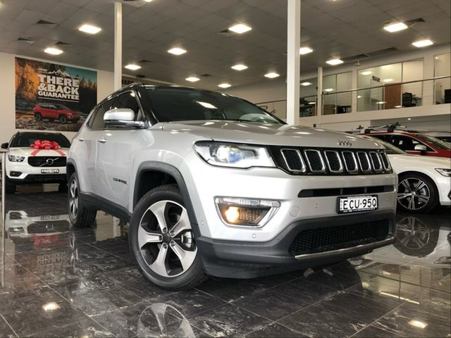 Used Jeep Compass M6 MY18 Limited (4x4), 2019 Jeep Compass M6 MY18 Limited (4x4) Silver 9 Speed Automatic Wagon