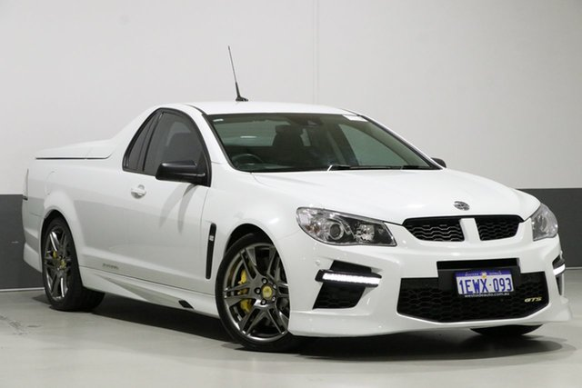 Used Holden Special Vehicles GTS Gen F MY15 Maloo, 2015 Holden Special Vehicles GTS Gen F MY15 Maloo White 6 Speed Automatic Utility