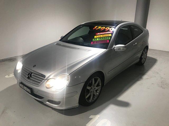 Used Mercedes-Benz C-Class CL203 MY2006 C180 Kompressor Sports Evolution, 2005 Mercedes-Benz C-Class CL203 MY2006 C180 Kompressor Sports Evolution Silver 5 Speed Automatic