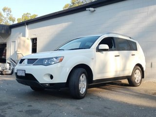 2007 Mitsubishi Outlander ZG MY07 LS White 6 Speed Constant Variable Wagon.