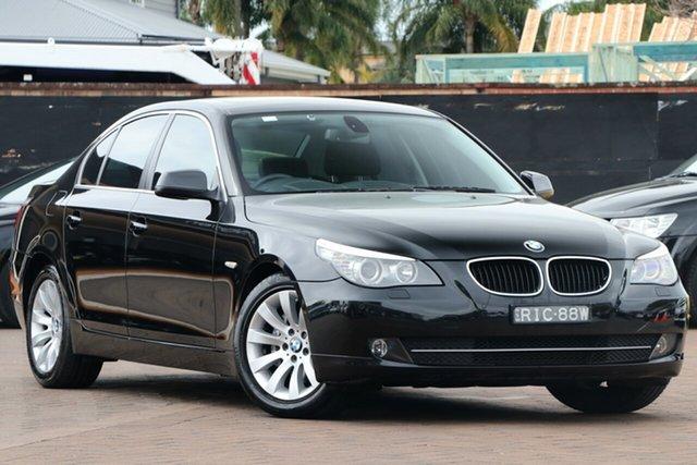 Used BMW 5 Series E60 MY08 520d Steptronic, 2010 BMW 5 Series E60 MY08 520d Steptronic Black 6 Speed Sports Automatic Sedan