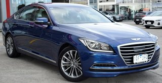 2016 Hyundai Genesis DH Blue 8 Speed Sports Automatic Sedan.