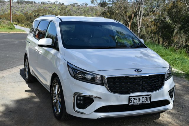 Demo Kia Carnival YP MY19 Platinum, 2019 Kia Carnival YP MY19 Platinum Snow White Pearl 8 Speed Sports Automatic Wagon