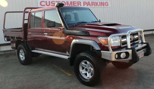 Used Toyota Landcruiser VDJ79R GXL Double Cab, 2017 Toyota Landcruiser VDJ79R GXL Double Cab Burgundy 5 Speed Manual Cab Chassis