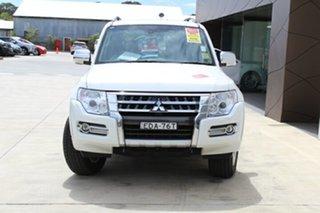 2018 Mitsubishi Pajero NX MY19 GLS White 5 Speed Sports Automatic Wagon.