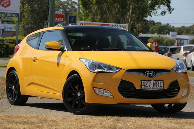 Used Hyundai Veloster FS Coupe, 2012 Hyundai Veloster FS Coupe Yellow 6 Speed Manual Hatchback