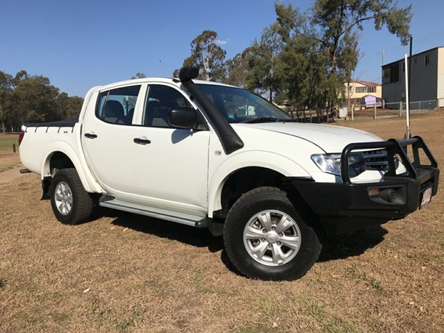 Used Mitsubishi Triton MN MY15 GLX, 2015 Mitsubishi Triton MN MY15 GLX White 5 Speed Manual Double Cab Utility