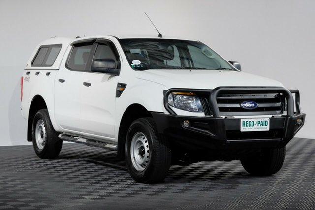 Used Ford Ranger PX XL Double Cab, 2015 Ford Ranger PX XL Double Cab Cool White 6 speed Automatic Utility