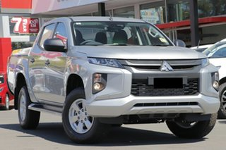 2019 Mitsubishi Triton MR MY19 GLX Double Cab Sterling Silver 6 Speed Manual Utility.