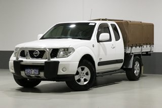 2009 Nissan Navara D40 ST-X (4x4) White 5 Speed Automatic King Cab Chassis.