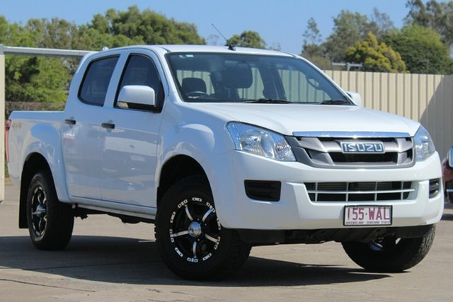 Used Isuzu D-MAX MY15 SX Crew Cab, 2015 Isuzu D-MAX MY15 SX Crew Cab White 5 Speed Sports Automatic Utility