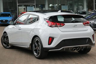 2019 Hyundai Veloster JS MY20 Turbo Coupe D-CT Premium Chalk White 7 Speed.
