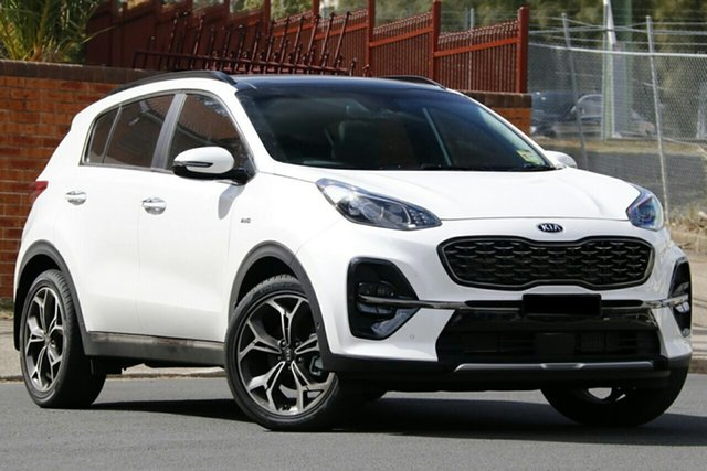 New Kia Sportage QL MY21 GT-Line AWD Gunnedah, 2020 Kia Sportage QL MY21 GT-Line AWD Snow White Pearl 8 Speed Sports Automatic Wagon