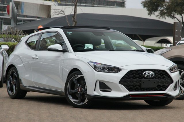 New Hyundai Veloster JS MY20 Turbo Coupe D-CT Premium Toowoomba, 2019 Hyundai Veloster JS MY20 Turbo Coupe D-CT Premium Chalk White 7 Speed