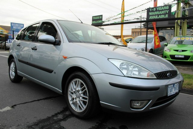 Used Ford Focus LR MY2003 CL West Footscray, 2004 Ford Focus LR MY2003 CL Silver 5 Speed Manual Hatchback