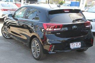 2019 Kia Rio YB MY19 GT-Line DCT Aurora Black Pearl 7 Speed Sports Automatic Dual Clutch Hatchback.